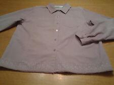 Women's Victoria Jones Size L Large 12 14 Lt Purple Corduroy Stretch Shirt Top!!