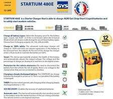 GYS startium 480e AGM freno Arranque 12a-24 voltaje batería Cargador 600amp
