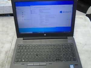 HP Zbook G3 15 i7-6700HQ 2.60GHZ 8GB 256GB SSD Windows 10 Laptop Radeon