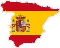 Sticker car moto map flag vinyl outside wall decal macbbook spain spanish