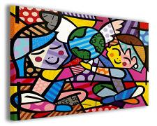 Quadri famosi arte Romeo Britto vol X stampa su tela canvas arredo poster