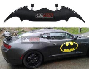 "Batman Style 57"" Real Carbon Fiber Rear Trunk Spoiler Wing + LED Brake Light T20"