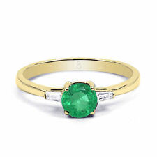 Emerald Yellow Gold 18 Carat Fine Rings