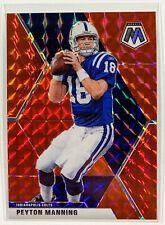 2020 Mosaic Peyton Manning Red Mosaic Prizm #90 Indianapolis Colts SP