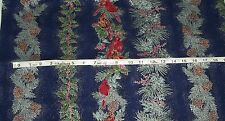 Winter Impressions Hoffman Fabric Christmas Cardinals Stripes By the Yard New