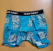Frank Dandy Men's Blue Graffiti Boxers Small NWT