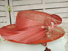 Chapeau mariage/cérémonie paille coloris : orange   -  LIVRABLE DE SUITE