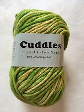 """Crystal Palace Yarns Cuddles #7010 """"Spring Greens"""" Bulky machine wash 50gr 97yd"""