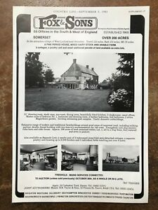 West Lydford - Somerset - For Sale - 1981 Press Cutting r399