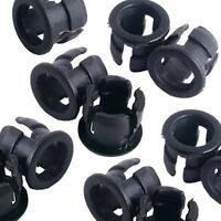 50 5mm Black Plastic LED Holder Case Clip Display Panel H1