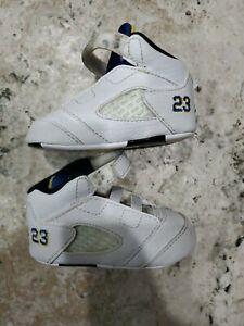 Nike Air Jordan Retro V Size 3C Laney Soft Sole Baby Shoe 552494-189 VERY CUTE!!