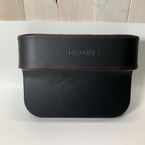 2X Iokone Coin Side Pocket Console Side Pocket Leather Cover Car Cup Holder Auto