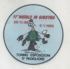 Adesivo 11° NATALE IN GIOSTRA 1988 Torino Esposizione PROMO sticker VETRO