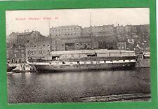 Gunboat Daedelus Bristol pc 1906 Middleton Squared Circle postmark Ref K88