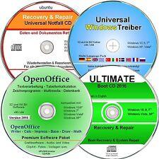 Pacchetto software Windows 10, 8, 7, XP-DVD driver, software per ufficio, recupero dati