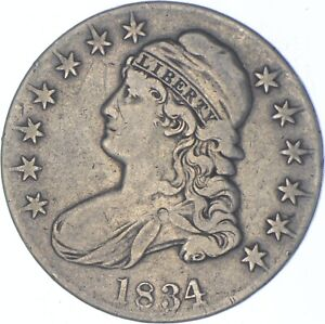 1834 Capped Bust Half Dollar - Charles Coin Collection *523