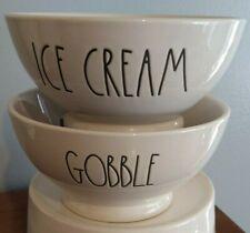 New Set of 2 Rae Dunn Bowls, Ice Cream - Gobble