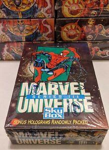~ Marvel Universe Series 3 Box Factory Sealed Impel - Hologram ? ~