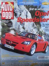 Auto Oggi n°35 2000 Audi ALL road 2.5 TDI Opel Speedster  [P45]