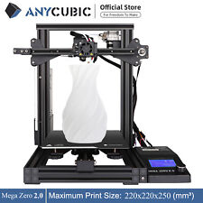 ANYCUBIC 3D Drucker Kit Mega Zero 2.0 Metallrahmen Größerer Druckgröße & 10m PLA