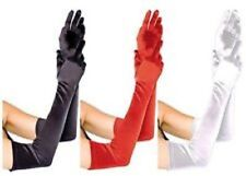 Long Satin Evening Party Opera Gloves Fancy Dress COSTUME FAST FREE POST