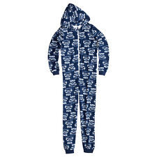 OFFICIAL AFL GEELONG CATS POLAR FLEECE HOODED 1 PIECE PYJAMA UNISEX SIZE 4 NEW