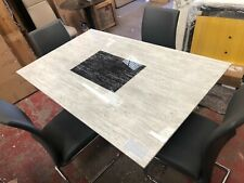 Alfrank Marble dining table + 4 Chairs