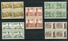 Nederland 655-659 Zomerzegels 1955 blokken v 4 - POSTFRIS Cat waarde € 90