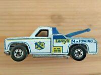 HOT WHEELS CAR TRACK VINTAGE LARRY'S 24 hr TOWING MATTEL inc hong konk 1974 USED