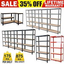 Garage Shed 5 Tier Racking Storage Shelving Units Boltless Heavy Duty Shelves