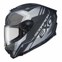 Scorpion EXO-R420 Full Face Motorcycle Street Helmet Matte Grey XL 75-1160X