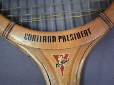 Sharp 1940s Vintage Cortland Tennis Racquet - President Model - Smoke Tone
