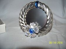 Swarovski Crystal Blue Flower Picture Frame New In Box Retired 7506Nr000001