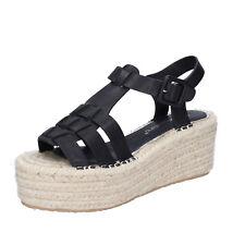 scarpe donna FRANCESCO MILANO 36 sandali nero pelle sintetica BS80-36
