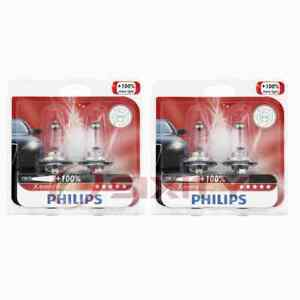 2 pc Philips High Beam Headlight Bulbs for Smart Forfour Fortwo Roadster ag