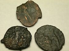 New ListingAncient Auth. 3 Roman Coins; 307 - 361 Ad; Spearing, Emp. Globe & Victory Drag
