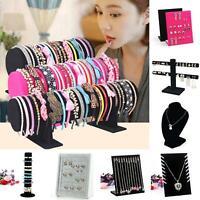 Velvet Women Jewelry Rack Bracelet Necklace Stand Organizer Holder Display Surse