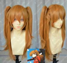 Orange Eva Asuka Soryu Asuka Langley Clip Ponytail Cosplay Wig Hair+gift