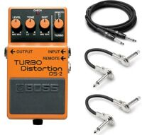 New Boss DS-2 Turbo Distortion Effect Pedal FREE Hosa Cables