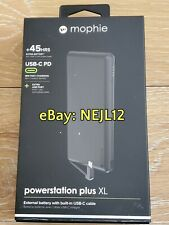 Mophie Powerstation PLUS w/ USB C Cable 12000mAh Portable Fast Charge Battery