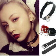 Hot Women's Gothic Punk Choker Collar Necklace Pendant Leather Chains Neck Ring