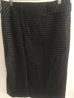 Principles Skirt Black Grey Fully Lined Straight With Back Pleat Size 12 < T1681