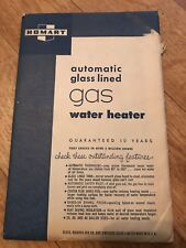 Vintage HOMART gas Water Heater Manual In Envelope