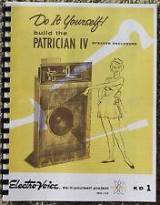 EV KD1 PATRICIAN IV DETAILED EV SPEAKER PLANS klipsch k horn