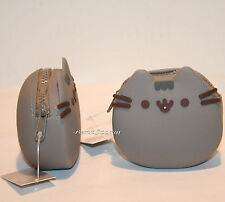"Pusheen Facebook Cat 3 1/4"" Silicone Coin Purse 3D whiskers & ears Hot Topic NEW"