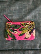 Vera Bradley Tropical Paradise Coin Purse, top zip and front slip pocket,NEW