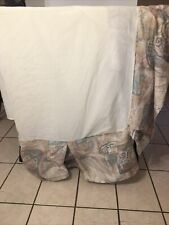 Vguc-Vintage-Croscill Queen Water Color Style Bed Skirt Vintage