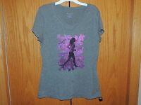 Women's Tek Gear Gray Short Sleeve T-Shirt Size M