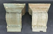 Pair of Antique Corbels Shelf Brackets Shabby Vintage Chic Architectural Salvage