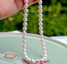 "round AAAAA 18""9-10mm REAL natural south sea white pearl necklace 14K GOLD"